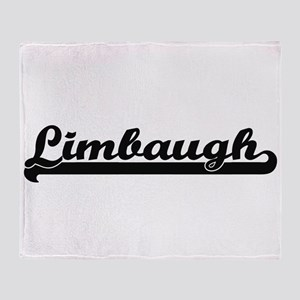 Limbaugh surname classic retro desig Throw Blanket