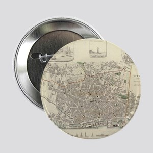 "Vintage Map of Liverpool En 2.25"" Button (10 pack)"