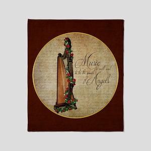 Irish Rose Harp Throw Blanket