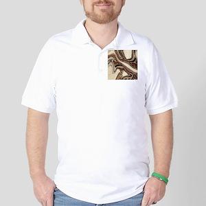 rustic brown swirls marble Golf Shirt