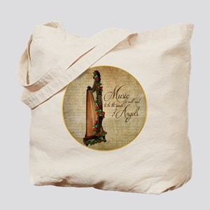 Irish Rose Harp Tote Bag