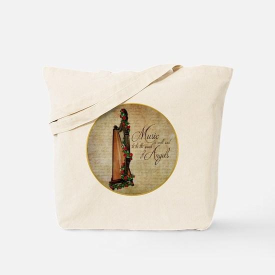 Irish Rose Harp Tote Bag