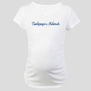 Galapagos Islands (cursive) Maternity T-Shirt