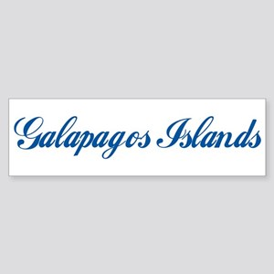 Galapagos Islands (cursive) Bumper Sticker