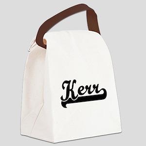 Kerr surname classic retro design Canvas Lunch Bag