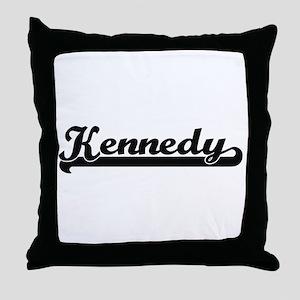 Kennedy surname classic retro design Throw Pillow