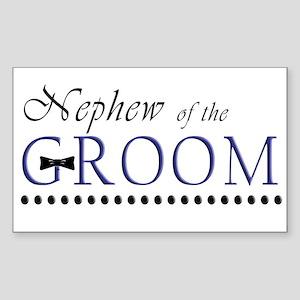 Nephew of the Groom Rectangle Sticker