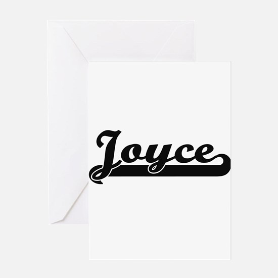 Joyce surname classic retro design Greeting Cards