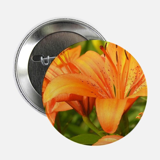 "Orange Tiger Lilies 2.25"" Button"