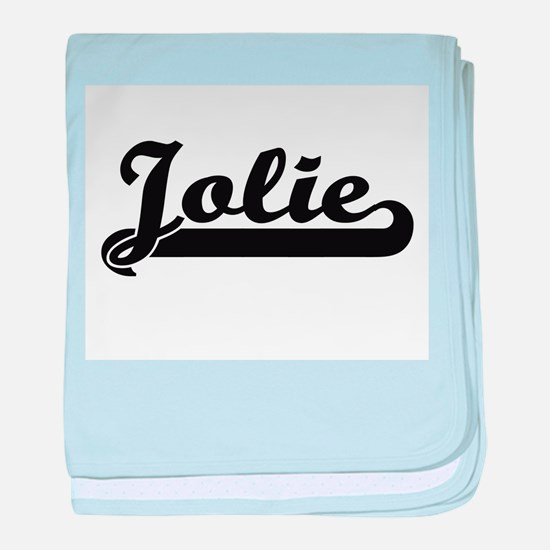 Jolie surname classic retro design baby blanket