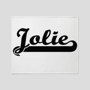 Jolie surname classic retro design Throw Blanket