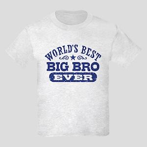 World's Best Big Bro Ever Kids Light T-Shirt