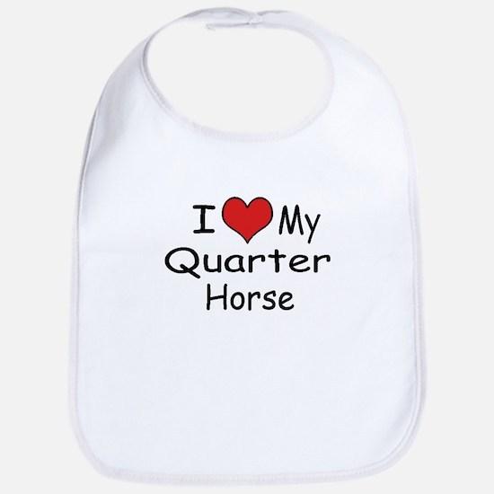 I Heart MyQuarter Horse Baby Bib