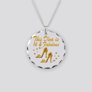 DAZZLING 16TH DIVA Necklace Circle Charm