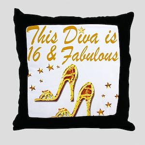 DAZZLING 16TH DIVA Throw Pillow