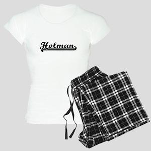 Holman surname classic retr Women's Light Pajamas