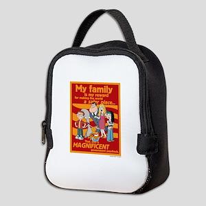 American Dad My Family Neoprene Lunch Bag