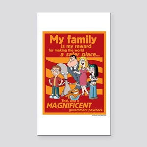American Dad My Family Rectangle Car Magnet