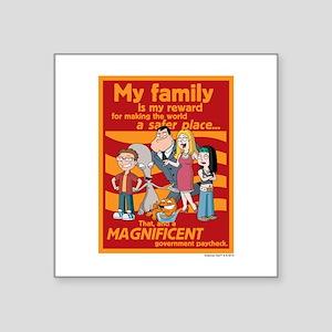 "American Dad My Family Square Sticker 3"" x 3"""