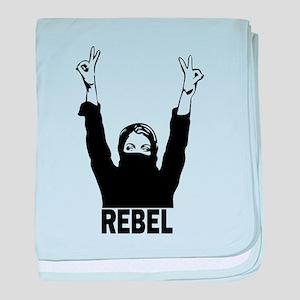 Rebel girl baby blanket