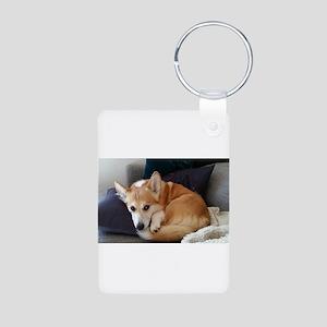 Imitating a sleeping fox Keychains