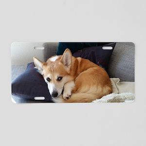 Imitating a sleeping fox Aluminum License Plate