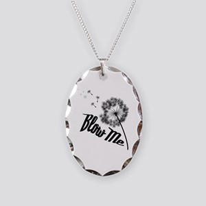 Blow Me Necklace Oval Charm