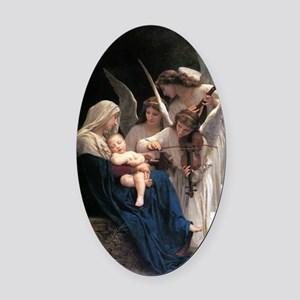 Song of the Angels Oval Car Magnet