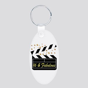 DAZZLING 16TH DIVA Aluminum Oval Keychain