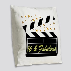 DAZZLING 16TH DIVA Burlap Throw Pillow