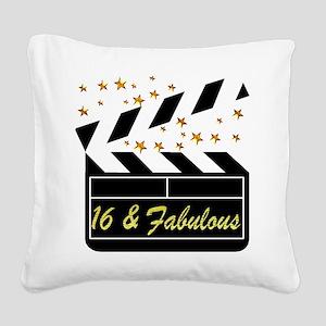 DAZZLING 16TH DIVA Square Canvas Pillow