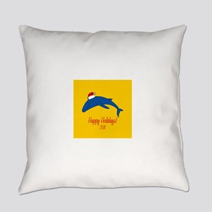 Whale Holiday Everyday Pillow