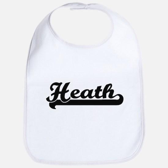 Heath surname classic retro design Bib