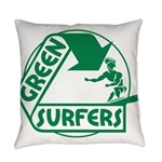 Green Surfers 10 Everyday Pillow