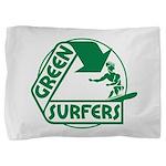 Green Surfers 10 Pillow Sham