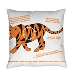 Tiger Facts Everyday Pillow