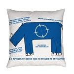 Rhino Facts Everyday Pillow
