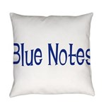BlueNotes10x8 Everyday Pillow