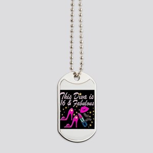 SNAZZY 16TH DIVA Dog Tags