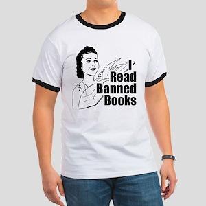 Read Banned Books Ringer T Shirt