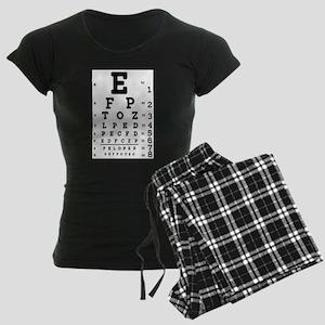 Eye Chart bold Women's Dark Pajamas