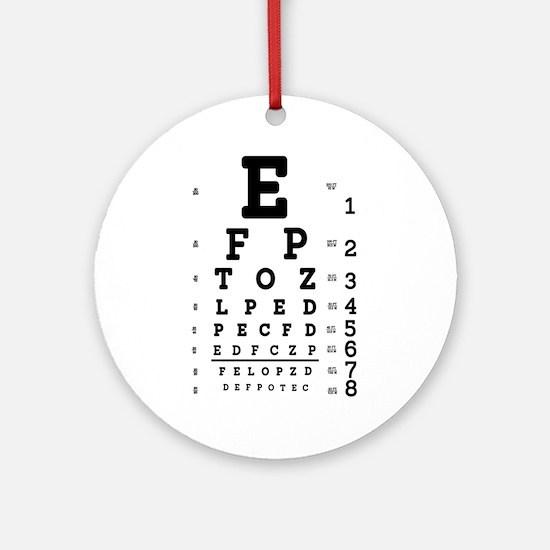 Eye Chart bold Round Ornament