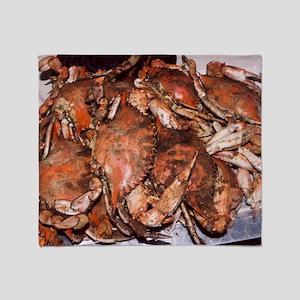 Crab Feast Throw Blanket