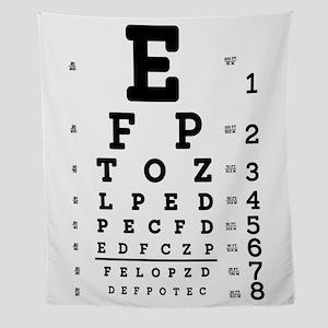 Eye Chart bold Wall Tapestry