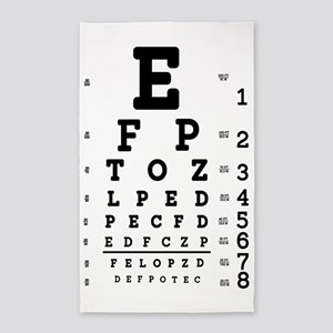Eye Chart bold Area Rug