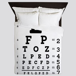 Eye Chart bold Queen Duvet