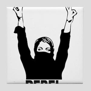 Rebel girl Tile Coaster