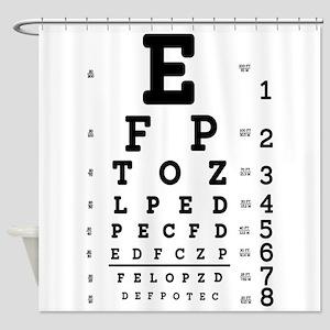 Eye Chart bold Shower Curtain