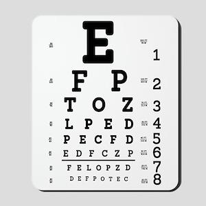 Eye Chart bold Mousepad