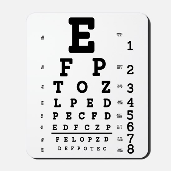 Eye Chart bold Mousepad